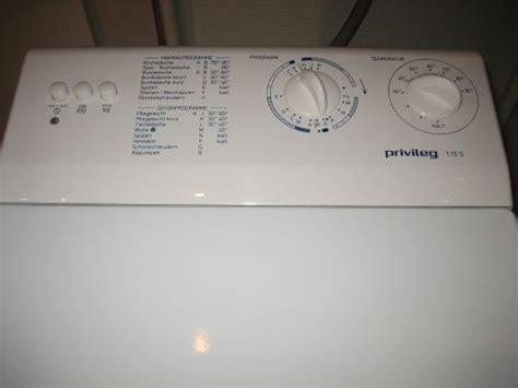 privileg waschmaschine toplader waschmaschine quelle privileg 115 s