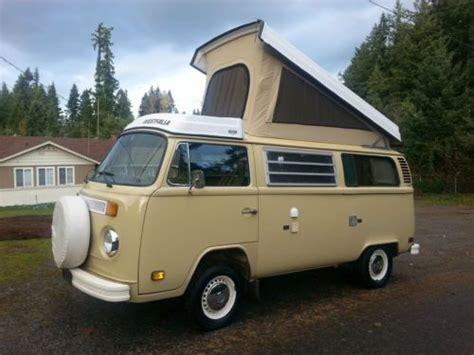 volkswagen westfalia 1978 buy used 1978 vw westfalia deluxe bus pop top camper van 2