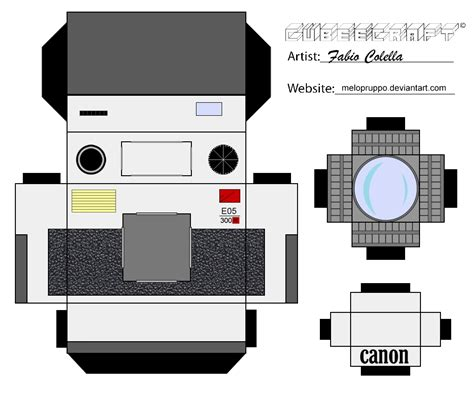 Canon 3d Papercraft - canon cubeecraft by melopruppo on deviantart