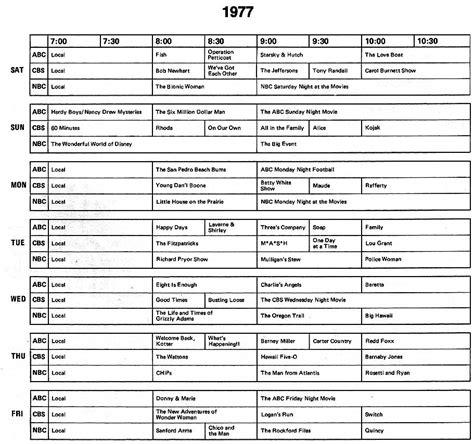 best tv program index html