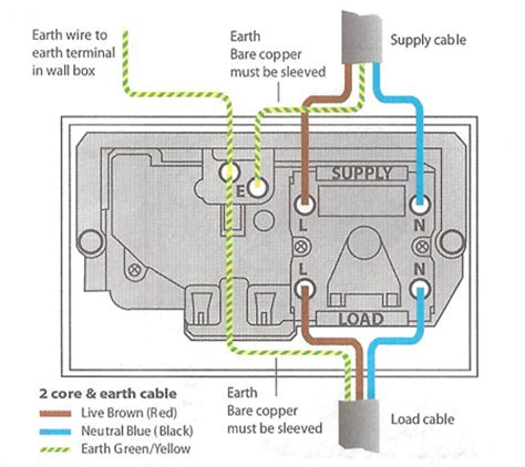 cooker socket wiring diagram electric cooker installation