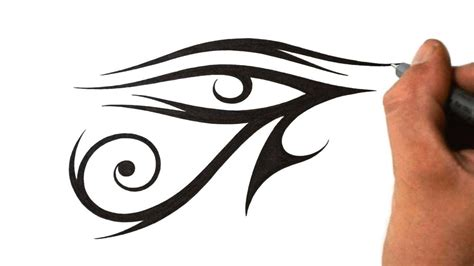 how to draw eye of ra tribal tattoo design style youtube