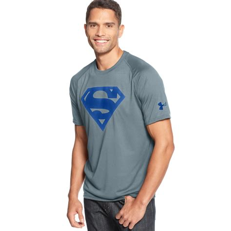 T Shirt Armour Superman 2 armour alter ego superman tshirt in gray for lyst