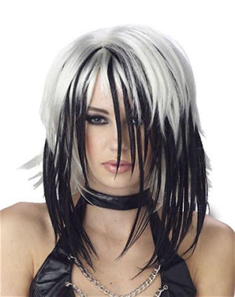 Black N White Hair Hairstyles   simple hair style black n white long shag
