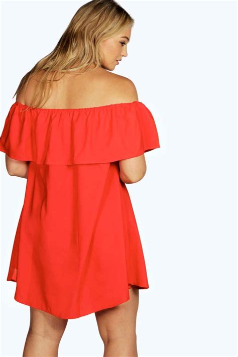 swing dress boohoo boohoo womens rose off the shoulder swing dress ebay