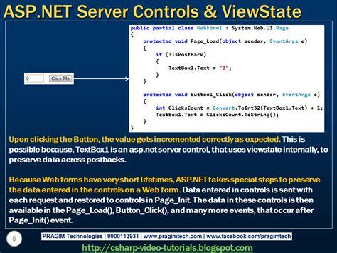 tutorial asp net html sql server net and c video tutorial part 3 viewstate