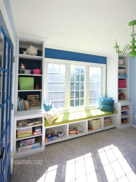 playroom bench seating storage around windows and bench play room pinterest