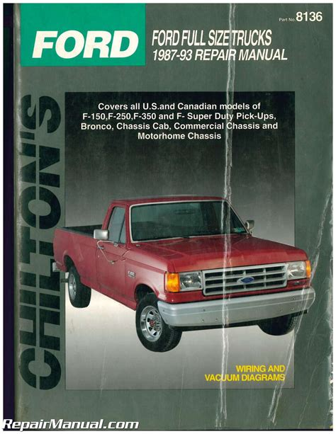 small engine maintenance and repair 1987 ford bronco ii electronic throttle control used chilton ford pick ups and bronco 1987 1993 repair manual