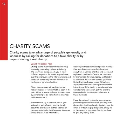 charity scams letter the black book of scams