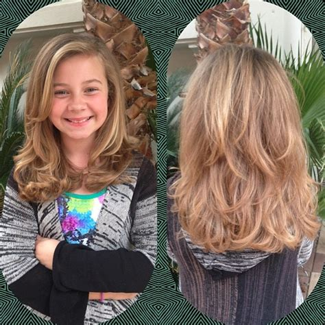 12 year old side bangs kid s layers madelon sanabria portfolio pinterest