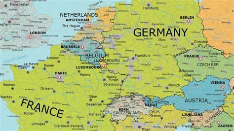 map of europe in detail detailed vector map of europe maptorian