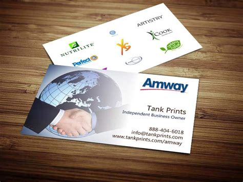 amway name card template amway business card design 4