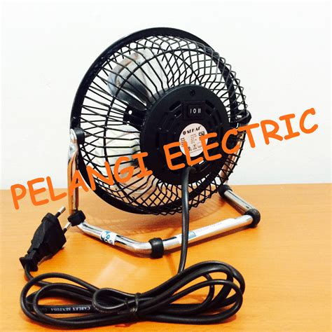 Kipas Angin Stainless jual kipas angin meja desk fan sekai besi mini hfn 650 pelangi electric