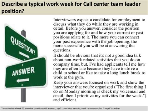 call center team leader questions