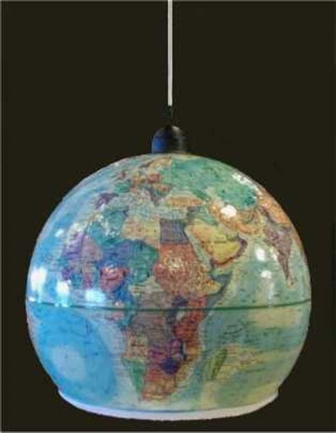 Make A Pendant Light Out Of An Outdated World Globe