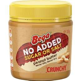 Sanitarium Peanut Butter 500g sanitarium crunchy peanut butter no added sugar or salt