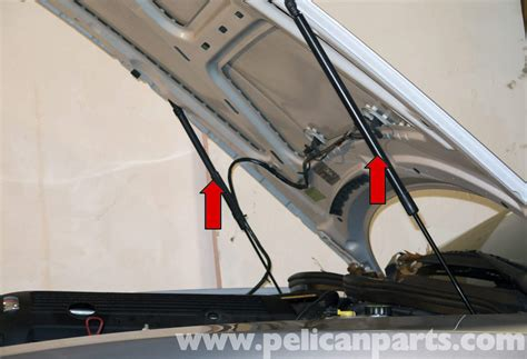 how to install replace trunk lid support strut buick bmw z4 m hood and trunk support strut 2003 2006 pelican parts diy maintenance article