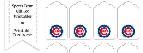 Chicago Cubs Sweepstakes - chicago cubs gift tags printable treats com