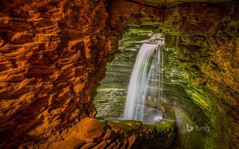 skiff and the mermaid us cavern cascade watkins glen state park new york 169 a d