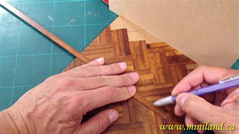 flooring tutorial dollhouse miniature  scale hard