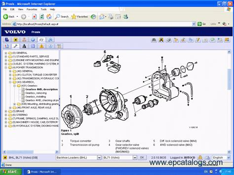 volvo equipment prosis  spare parts catalogs