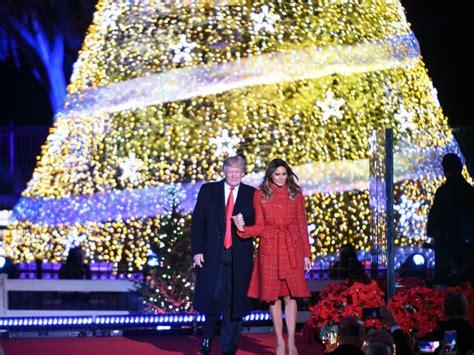 donald trump xmas tree in christmas tree lighting president trump recalls the