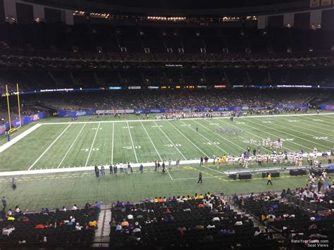 section 11 football superdome section 315 new orleans saints rateyourseats com