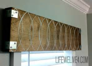Wood Valances For Windows Decor Guest Post We Live 4 Industrial Wooden Valance