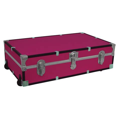bed trunk seward trunk under the bed footlocker pink storage trunk