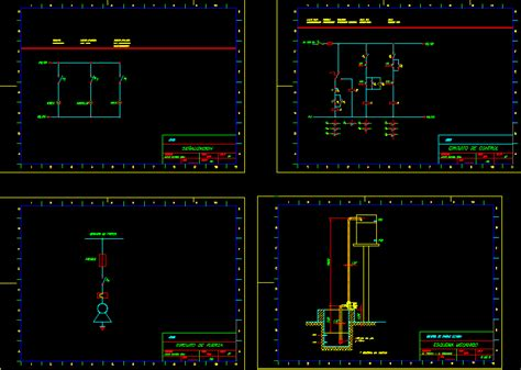 pumping automatic  elevated tank dwg block  autocad
