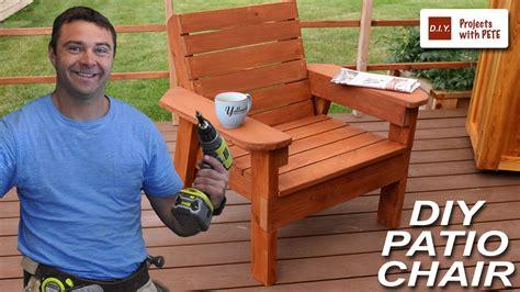 build  patio chair diy outdoor chair build youtube