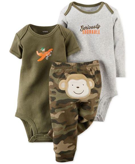 S 3 Babyboy Bodysuit And Pant Set Cs074 s baby boys 3 monkey bodysuits set gifts for