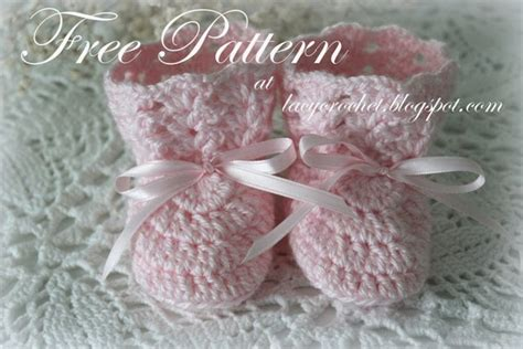Free Online Crochet Patterns For Baby Booties