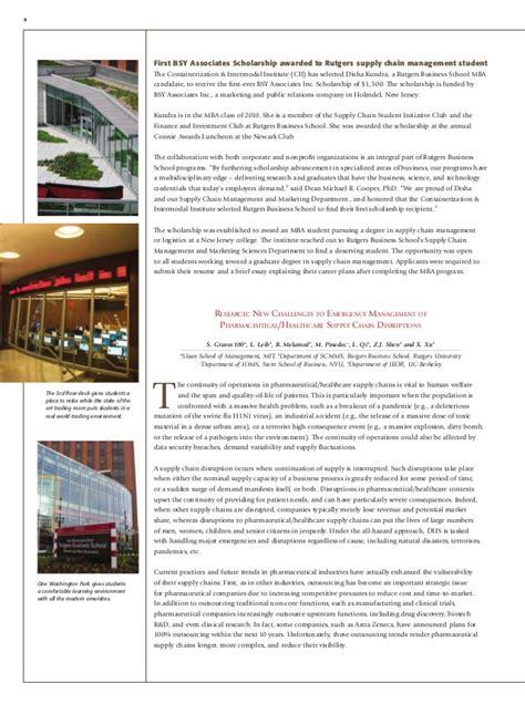 Rutgers Business School Mba Scholarship by Rutgers S Undergraduate Scm Design Teams