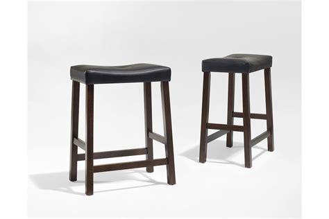 Upholstered Saddle Bar Stools by Upholstered Saddle Seat Bar Stool In Vintage Mahogany With