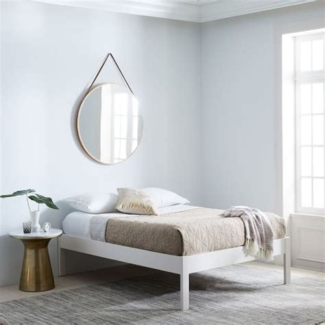 Simple White Bed Frame by Simple Bed Frame White West Elm
