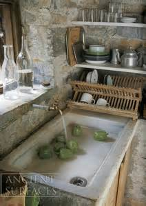 antique farmhouse limestone sink with countertops 2