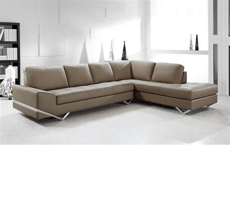 Dreamfurniture Com Divani Casa Vanity Modern Leather Sectional Modern Sofa