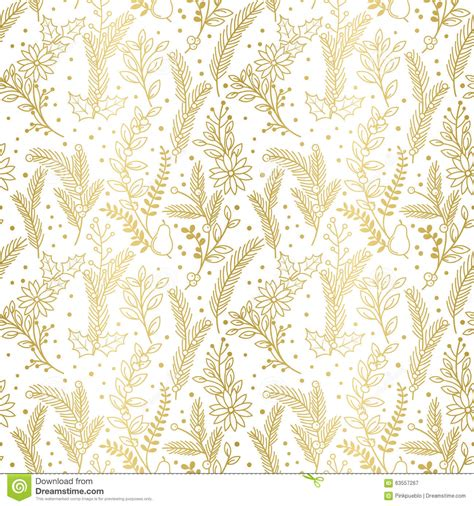 christmas pattern gold seamless vector pattern of faux gold foil christmas