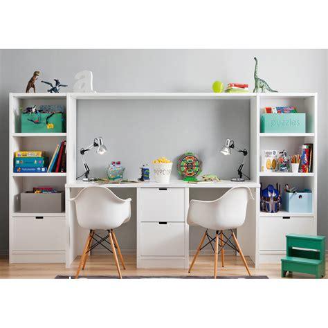 Supérieur Bureau Pour Deux Enfants #2: bureau-double-caisson-et-2-meubles-de-rangement-bibliotheques-pour-chambre-enfants-asoral.jpg