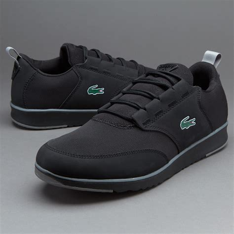 sepatu sneakers lacoste light black