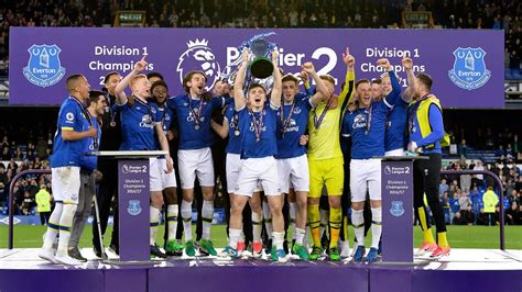 epl table u23 everton lift premier league 2 division 1 trophy