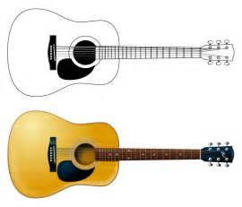 Acoustic Guitar Outline Drawing by Best Photos Of Acoustic Guitar Outline Guitar Drawings Clip Acoustic Guitar Line Drawing