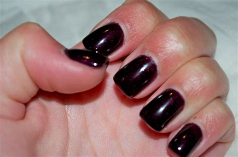 by michaela christine october nail color black cherry