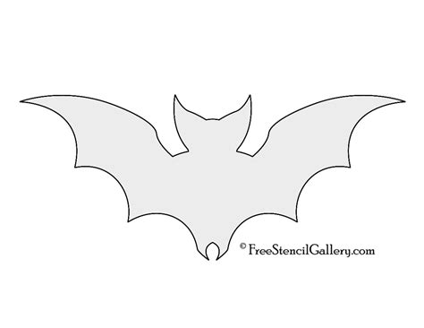 bat templates free bat stencil cliparts co