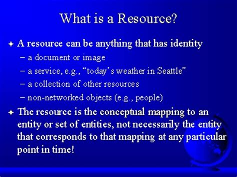What Is A by What Is A Resource