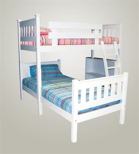 The Rory L Shaped Bunk Bed With Bookshelf And Ladder L Shape Bunk Bed