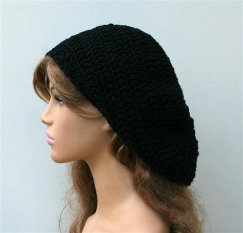 pattern for artist beret black cotton artist beret tam dreadlocks hippie dread