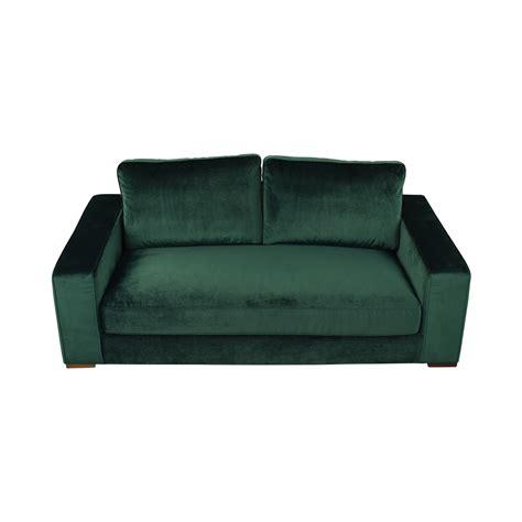 ainsley emerald green velvet single cushion