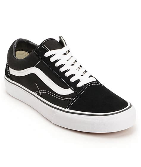 vans skool black white skate shoes mens at zumiez